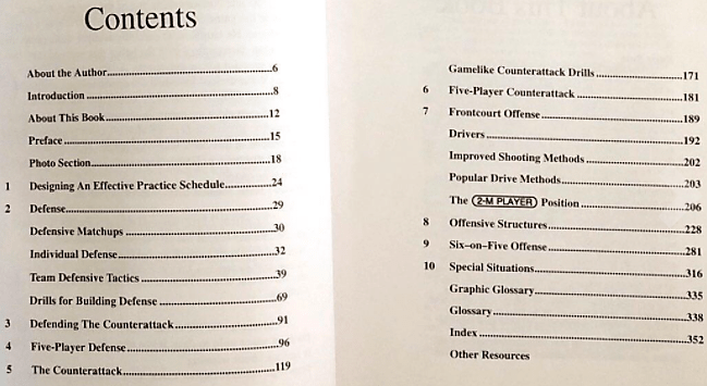 Table of Contents - pages in book